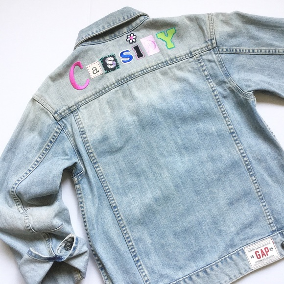 Gap Girl Denim Jean Jacket Personalized Cassidy